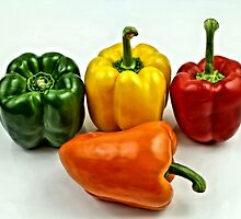 Bell Peppers 3 by Jimmy Ostgard