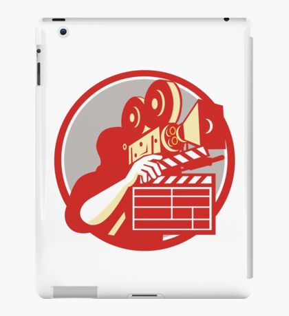 Cameraman Vintage Film Movie Camera Clapboard Retro iPad Case/Skin