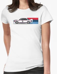 Classic Race Car with M Racing Livery Womens Fitted T-Shirt