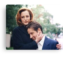 dana scully x files fox mulder Canvas Print