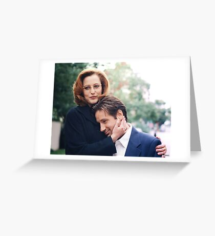dana scully x files fox mulder Greeting Card