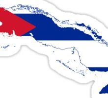 Flag Map of Cuba  Sticker