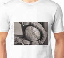 """Ball and Glove B&W"" Unisex T-Shirt"