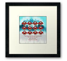 mushu emoji Framed Print