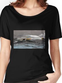 North Landscape - Original Wall Modern Abstract Art Painting Women's Relaxed Fit T-Shirt