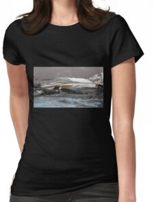 North Landscape - Original Wall Modern Abstract Art Painting Womens Fitted T-Shirt