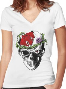 Berserk Skull Women's Fitted V-Neck T-Shirt