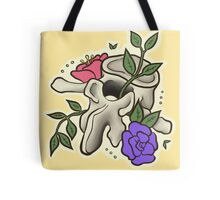 Flowery Vertebrae Tote Bag