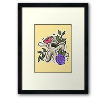 Flowery Vertebrae Framed Print