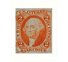 """1864 Internal Revenue Two-Cent Stamp"" Art Print"