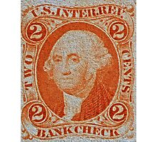 """""""1864 Internal Revenue Two-Cent Stamp"""" Photographic Print"""