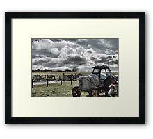 The Lonely Tractor Framed Print