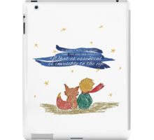 What is essential is invisible to the eye iPad Case/Skin