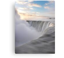Niagara Falls beautiful sunrise in soft colors art photo print Canvas Print