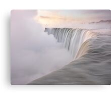 Niagara Falls beautiful sunrise in soft light colors art photo print Canvas Print
