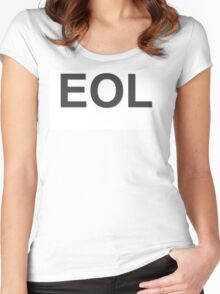 EOL End Of Life Women's Fitted Scoop T-Shirt