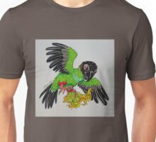 Nanday Conure and his toy healthstone Unisex T-Shirt