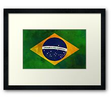 The flag of Brazil Framed Print