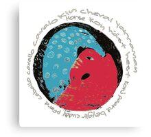 Horse International Languages Colorful design Canvas Print