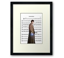 Doctor who- I am the doctor Framed Print