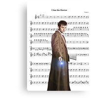 Doctor who- I am the doctor Canvas Print