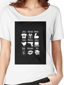 Criminal Minds Team (Minimalist), White on Black Women's Relaxed Fit T-Shirt