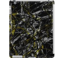 Gold and silver web iPad Case/Skin