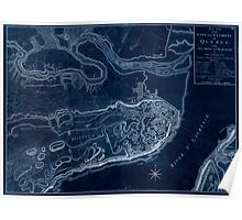 American Revolutionary War Era Maps 1750-1786 771 Plan of the city and environs of Quebec  with its siege and blockade by the Americans from the 8th of Inverted Poster