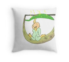 drawing of girl on  Throw Pillow