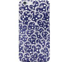 Phone Harmonics (Blue on White) iPhone Case/Skin