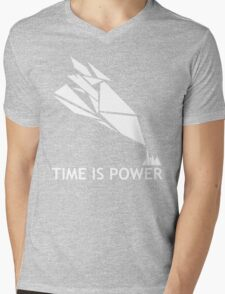 Time Is Power (Quantum Break Inspired Shirt) Mens V-Neck T-Shirt