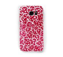 Phone Harmonics (Red on White) Samsung Galaxy Case/Skin