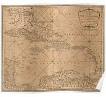 American Revolutionary War Era Maps 1750-1786 162 A new chart of the West Indian islands Poster