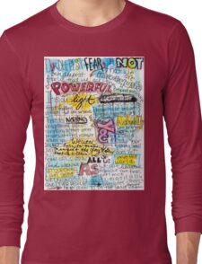 """Marianne Williamson Quote - """"Our deepest fear is not that we are inadequate"""" Long Sleeve T-Shirt"""