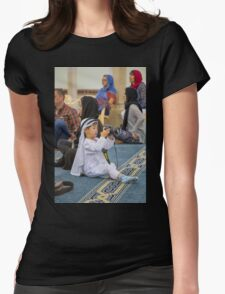 United Arab Emirates. Dubai. Jumeirah Mosque. Young Photographer from China. Womens Fitted T-Shirt