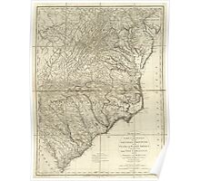 American Revolutionary War Era Maps 1750-1786 928 The marches of Lord Cornwallis in the Southern Provinces now States of North America comprehending the two Poster