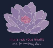 Fight for your Rights (and for Everybody Else's) - Purple Water Lily One Piece - Long Sleeve