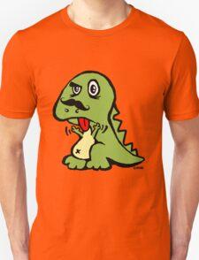 T-rex hates mustache Unisex T-Shirt
