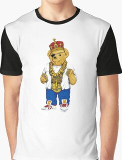 Gangster King Polo Bear Graphic T-Shirt