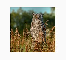 Great Horned Owl waiting for the sun to set Unisex T-Shirt