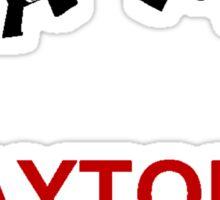 Daytona Gunworks Logo - Black & Red Sticker