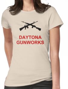 Daytona Gunworks Logo - Black & Red Womens Fitted T-Shirt
