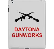 Daytona Gunworks Logo - Black & Red iPad Case/Skin