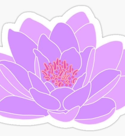 Purple Water Lily Sticker
