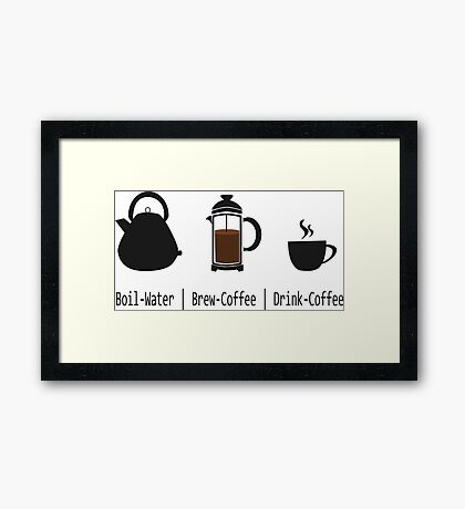 Brew-Coffee Framed Print