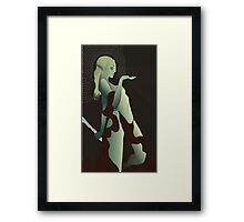 Female Elf Tarot Framed Print
