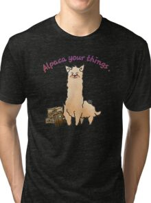 Alpaca Your Things Tri-blend T-Shirt