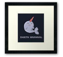 Darth Narwhal Framed Print