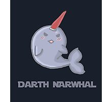 Darth Narwhal Photographic Print