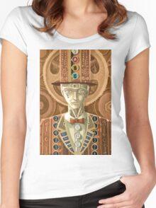 steampunk cash man Women's Fitted Scoop T-Shirt